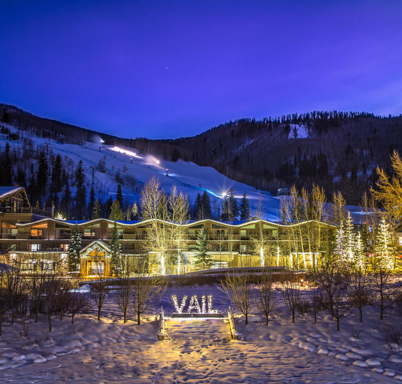 Vail sign on outside of property