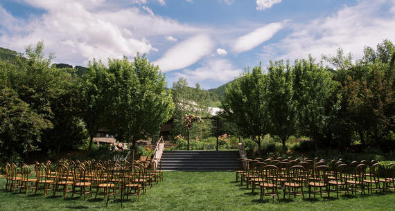 Ceremony in Manor Vail Golden Peak Gardens